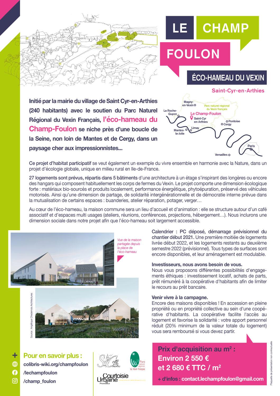 Smirtom Du Vexin Calendrier 2022 Eco Hameau du Champs Foulon | Saint Cyr en Arthies